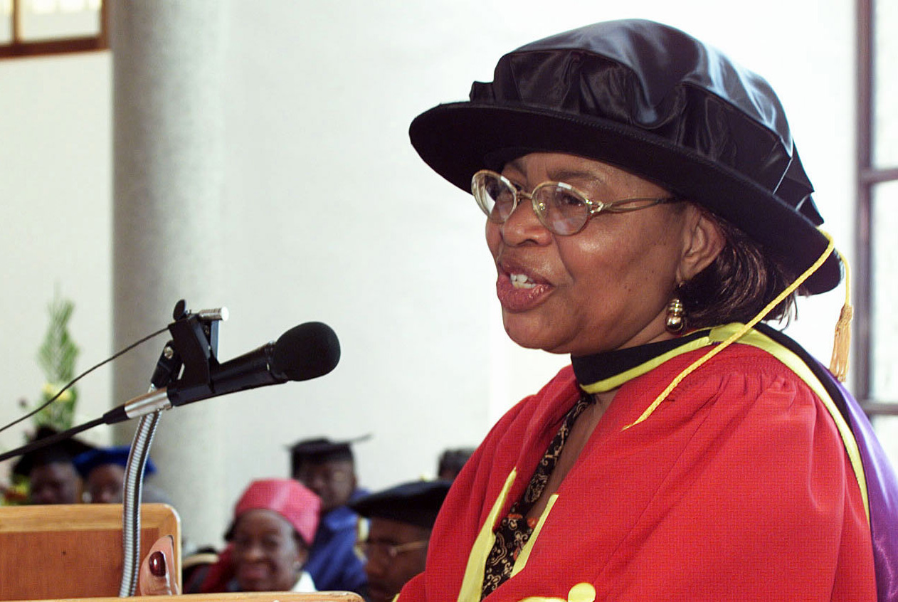 Mrs. Graca Machel, advisory board member, Institute of Peace, Leadership and Governance at AU