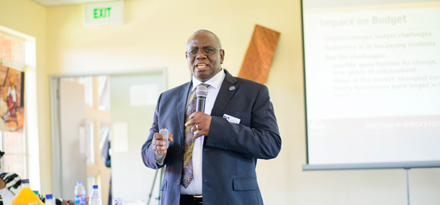 Prof. Munashe Furusa reported better than expected enrollment numbers for the 2016-17 academic year.