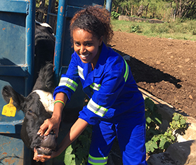 Deborah Legessse is an Agribusiness major in her final year at Africa University.