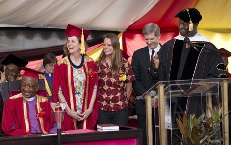 $2 million gift presented to AU by Lisa Tichenor on behalf of Highland Park UMC