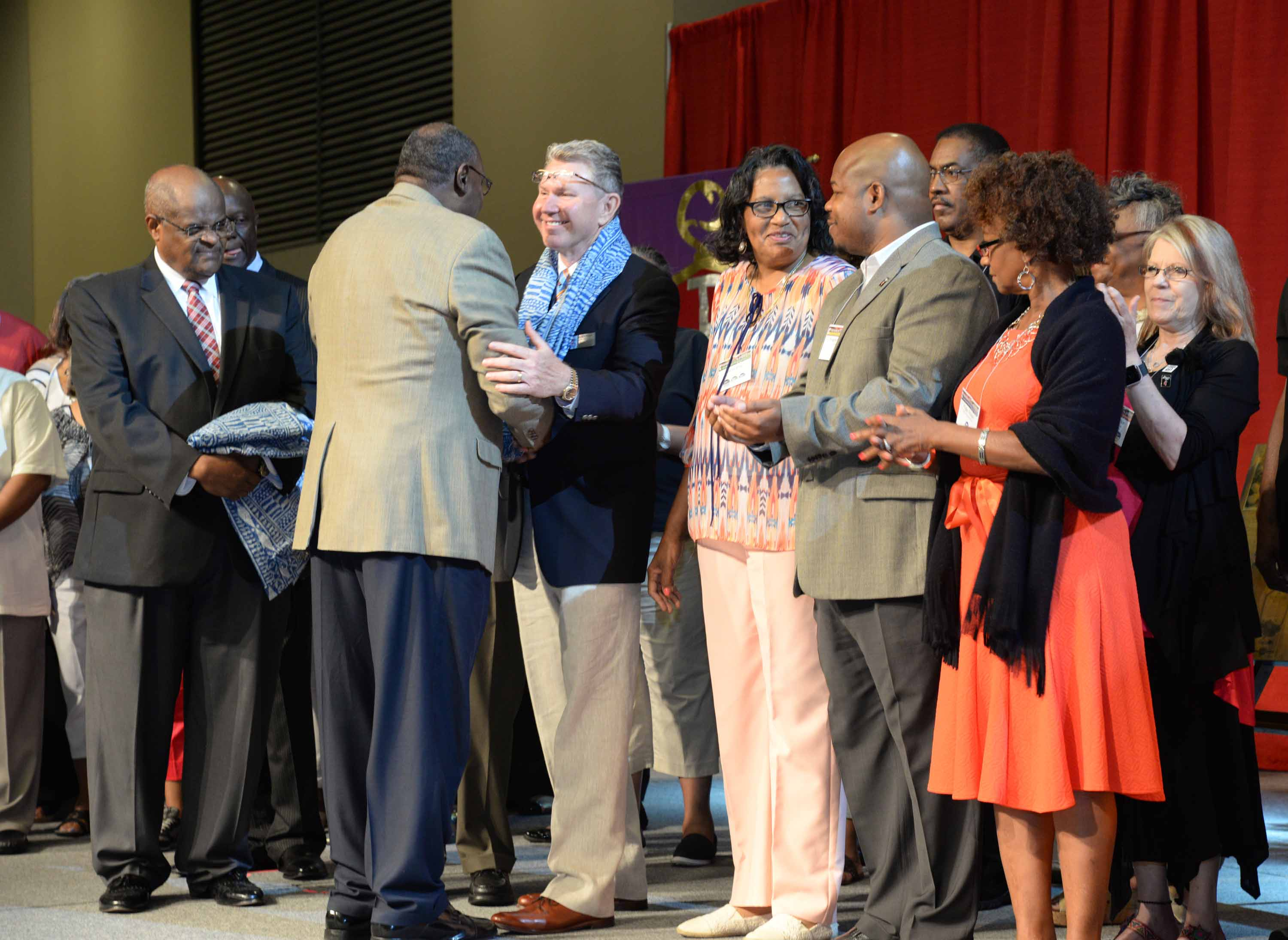 "2.	Rev. Steven P. ""Rusty"" Keen and the churches of the Meridian District were recognized for their contributions at the 2016 Mississippi Annual Conference."