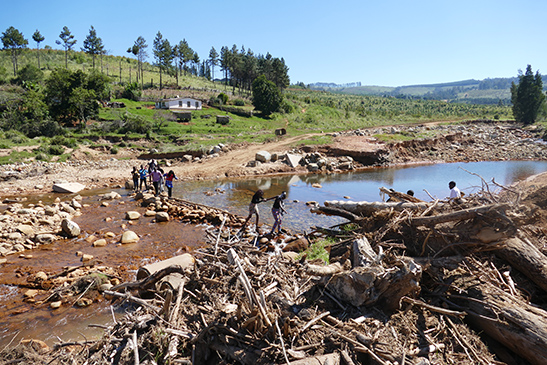 Cyclone Idai left deep scars on the landscape of Kopa-Chimanimani in Zimbabwe.
