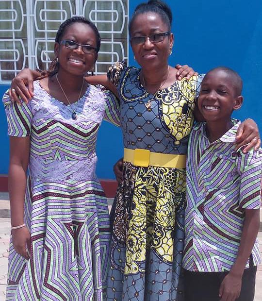 Rev. Vivian Ndikumana, with daughter, Rosette, and son, Rene.