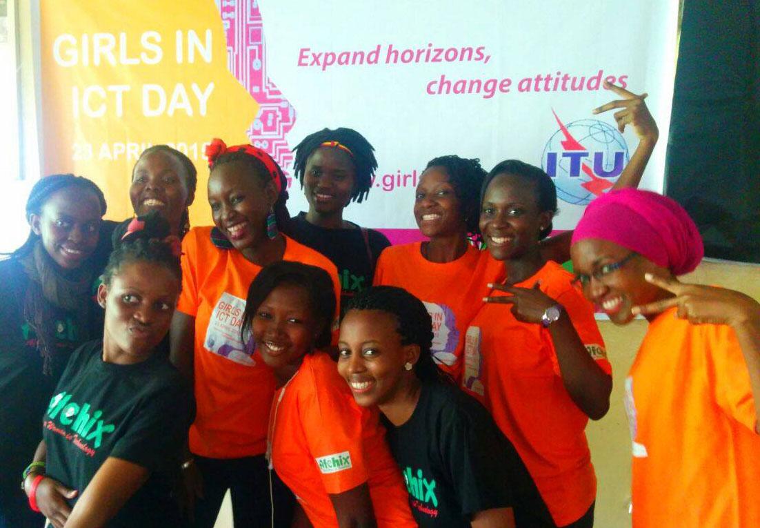 High school students attending a seminar of careers in IT in Kampala, Uganda.