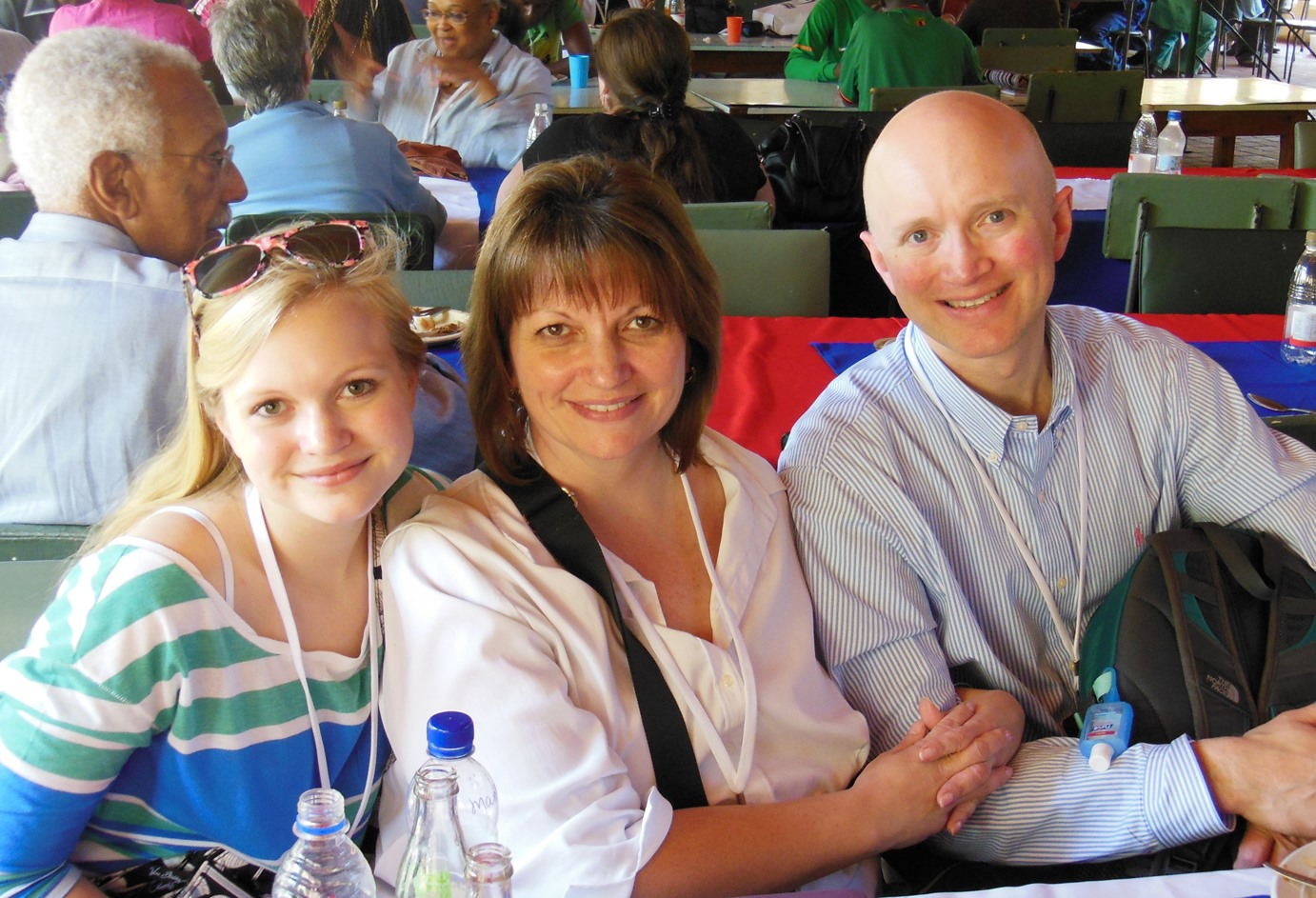 Georgianna Wood and her parents, Greg and Mimi Wood, during their visit to Africa University/Zimbabwe.